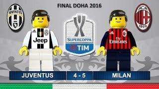 Supercoppa Italiana 2016 • JUVENTUS vs MILAN • Italy Super Cup TIM • Lego Football Highlights