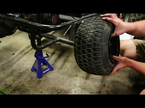 How to Stretch Go Kart Tires - Stanced $100 Go Kart Build