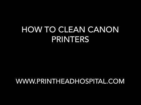 How to clean Canon Printers