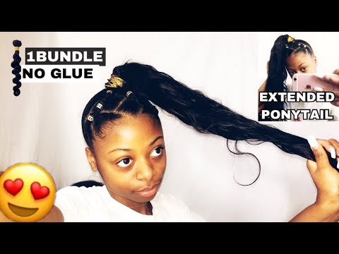 Fantasy ponytail NO glue! || long High extended ponytail!