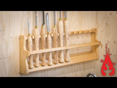Woodshop projects - Turning tool rack