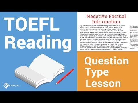 TOEFL Reading Question Type Lesson - Purpose