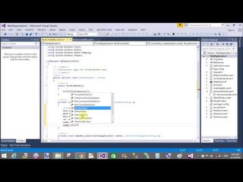 C# WPF Bind ComboBox from List of String type