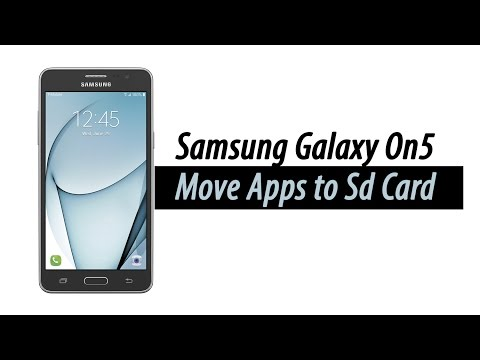 Galaxy On5 - How to Move Apps to the Memory Card