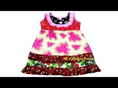 New arrival summer ruffle layered baby girls dress cutting & stitching