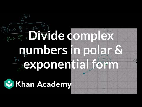 Dividing complex numbers in polar and exponential form | Precalculus | Khan Academy