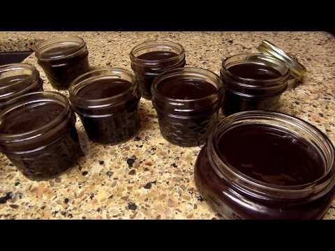 homemade chocolate sauce and canning