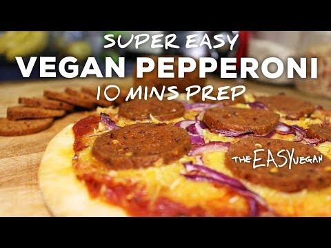 This Vegan Pepperoni tastes SOO Real - 10 min prep