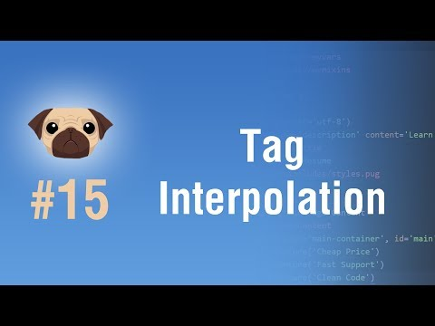Learn Pugjs in Arabic #15 - Tag Interpolation