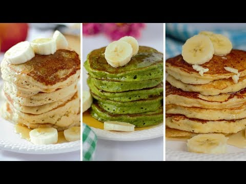 3 Healthy pancakes recipes for Toddlers  |  Whole wheat pancakes Recipe { Healthy and Nutritious }