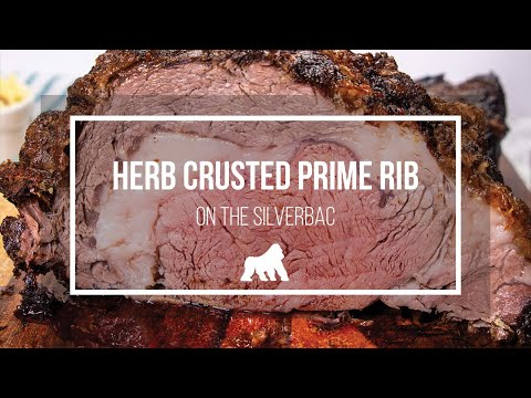 Herb Crusted Prime Rib on the SILVERBAC Pellet Smoker