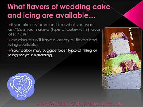 Mississauge Wedding Cakes - What Flavors Of Cake And Icing Are Available