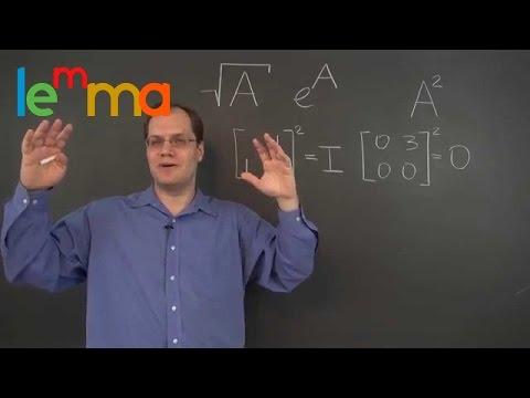 Linear Algebra 16m: Eigenvalues, Eigenvectors and the Square Root of a Matrix