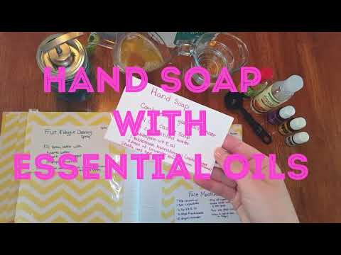 DIY Hand soap with essential oils #Swapped4YL