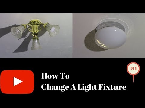 How To Change A Light Fixture!
