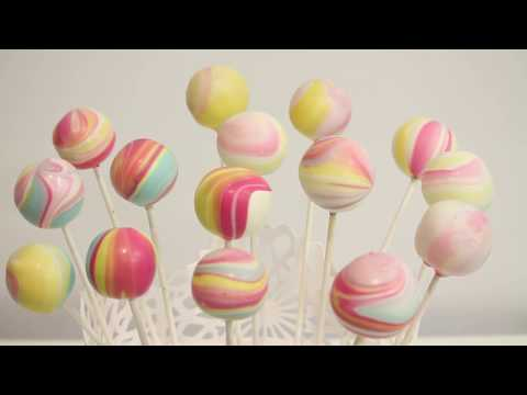 how to make RAINBOW SWIRL CAKE POPS! | Its A Piece Of Cake