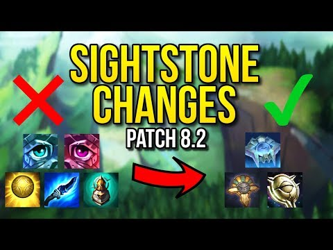EVERYTHING THAT YOU NEED TO KNOW ABOUT THE SIGHTSTONE CHANGES | Patch 8.2 - League of Legends