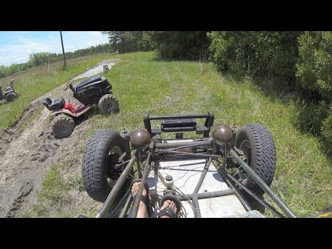 VW Dune Buggy Driving and Mudding