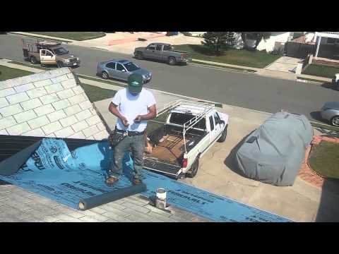 Roofing Video - Asphalt shingles : Laying a second layer over existing shingles roof.