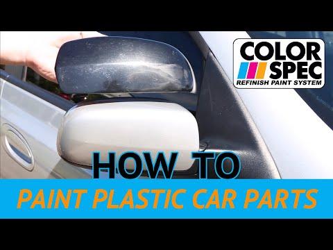 How to Paint Plastic Car Parts