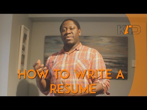 How To Write a Resume (Architecture / Interior Design)
