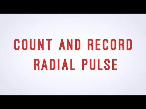 Count and Record Radial Pulse - CNA skill video - AAMT