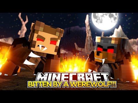 BITTEN BY A GIANT WEREWOLF!!! - Minecraft - Little Donny Adventures.
