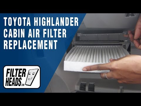 How to Replace Cabin Air Filter Toyota Highlander