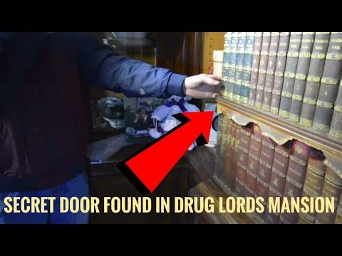 Whats Inside This Abandoned Drug Lords Mansion Will Blow Your Mind Secret Door Found