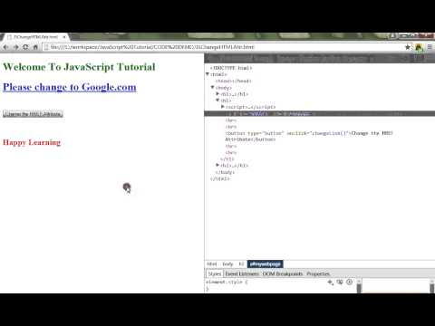 JAVASCRIPT HOW TO CHANGE HTML ATTRIBUTE DEMO