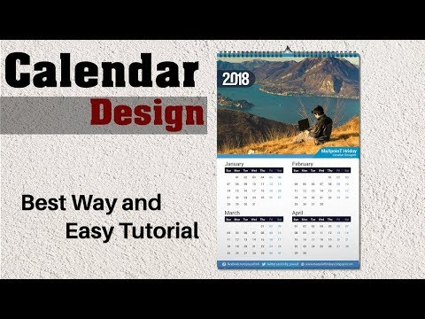 Learn How To Design a 2018 Calendar in Photoshop | Photoshop Tutorial