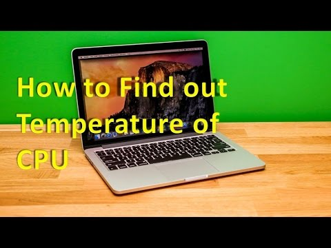 How to Find out Temperature of CPU in Desktop/ Laptop