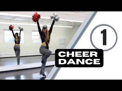 Cheer dance routine - step by step cheerleading dance tutorial pom poms