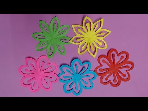 How to Make Beautiful Flower with Color Paper | DIY Paper Flowers Making