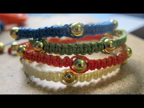 Square Knot DIY Bracelets Tutorial   Disney Style