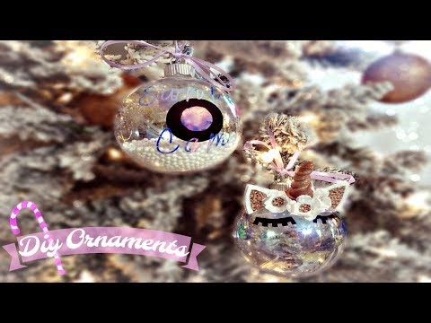 DIY Ornaments- Santa Cam & Unicorn | One Made With Cricut Explore Air and One Made Without