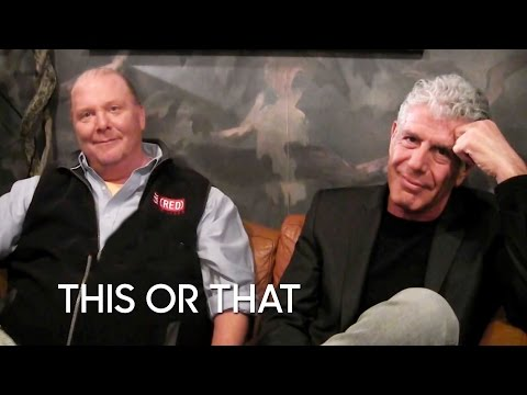 This or That: Anthony Bourdain & Mario Batali