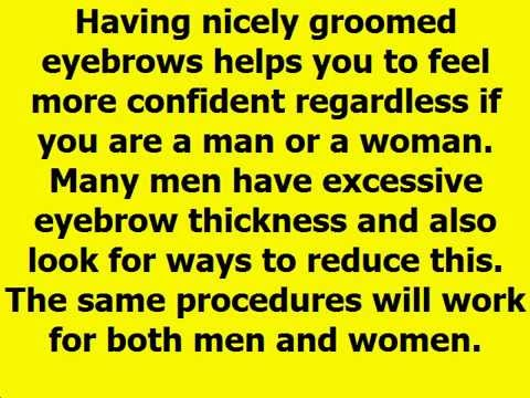 How to Get Rid of Thick Eyebrows