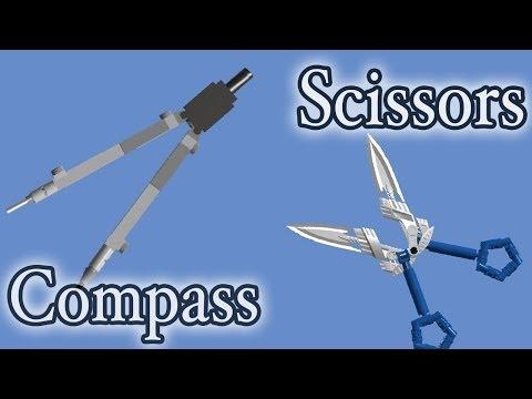 How to build LEGO Scissors & Compass
