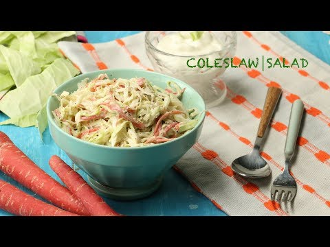 Coleslaw | Salad Recipe | How to Make a Chilled Salad at Home | Easy and Delicious