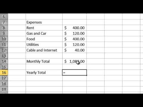 Simple Budget - Microsoft Excel 2010
