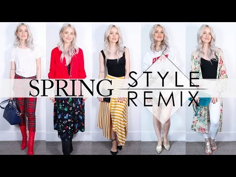 SPRING STYLE REMIX | RESTYLING MY NEW AND OLD CLOTHING