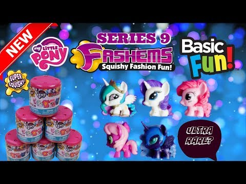 NEW MY LITTLE PONY FASH'EMS SERIES 9 WITH NEW ULTRA RARE SPARKLE PONY!!! BY BASICFUN TOYS