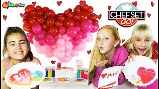 How To Decorate Valentine's Day Heart Cookies on Chef Set Go!   Official Orbeez