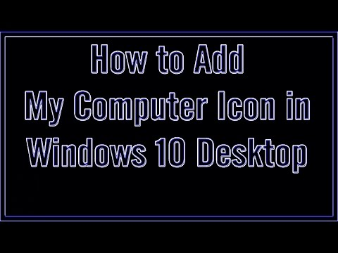 How to add desktop icon in windows 10 | উইন্ডোজ ১০ এ ডেক্সটপ আইকন নিয়ে আসুন