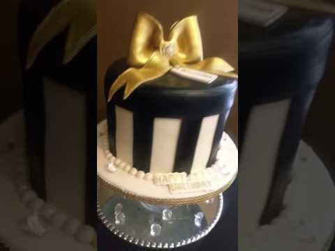 Round gift box cake