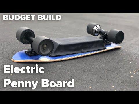 DIY Electric Skateboard Build - Electric Penny Board Edition - Budget Electric Skateboard