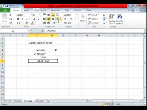 Excel Digital Clock