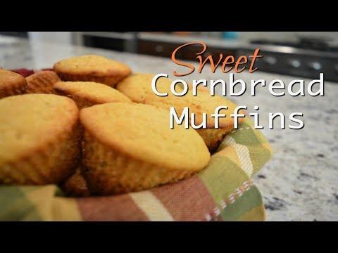 Sweet Honey Cornbread Muffins