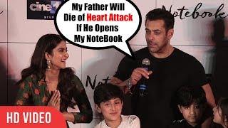 Salman Khan Funniest Speech At Notebook Trailer launch | Full Video